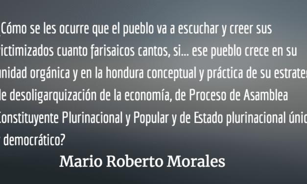 """Los cantos de sirena de la """"unidad"""". Mario Roberto Morales."""
