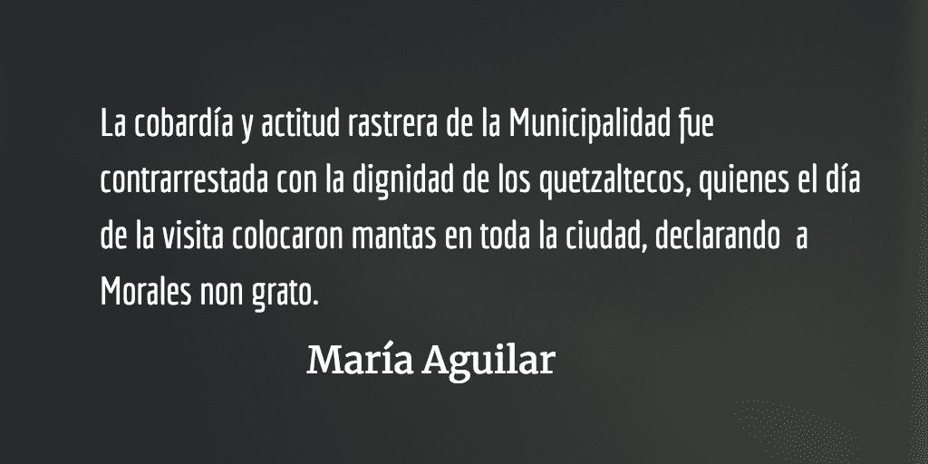 Autoridades quetzaltecas defienden el autoritarismo. María Aguilar.