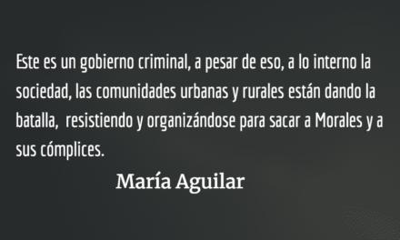 El gobierno criminal de Jimmy Morales. María Aguilar.