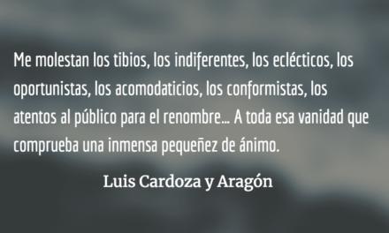 Paseos de sonámbulo. Luis Cardoza y Aragón.