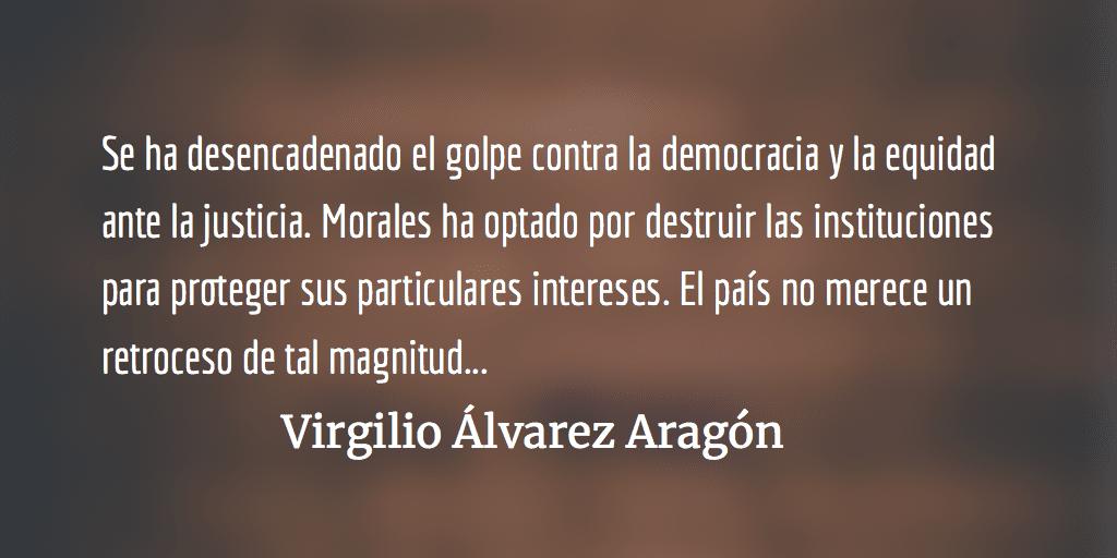 Impunidad como objetivo único. Virgilio Álvarez Aragón.