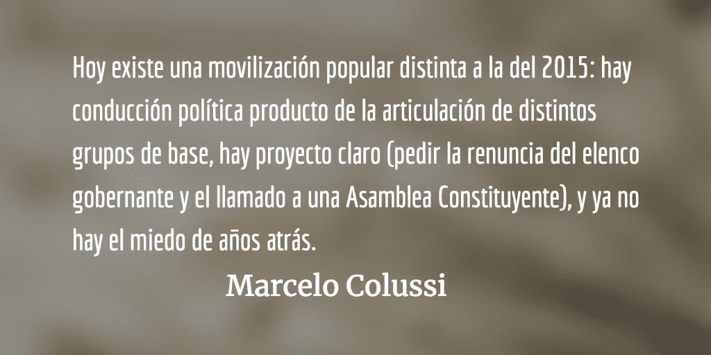 Guatemala. 2015: vuvuzelas. 2018: movilización popular. Marcelo Colussi.