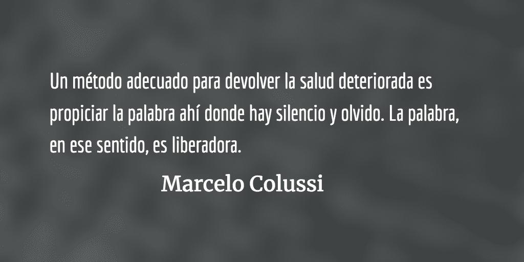 Oponer la palabra al silencio. Marcelo Colussi.