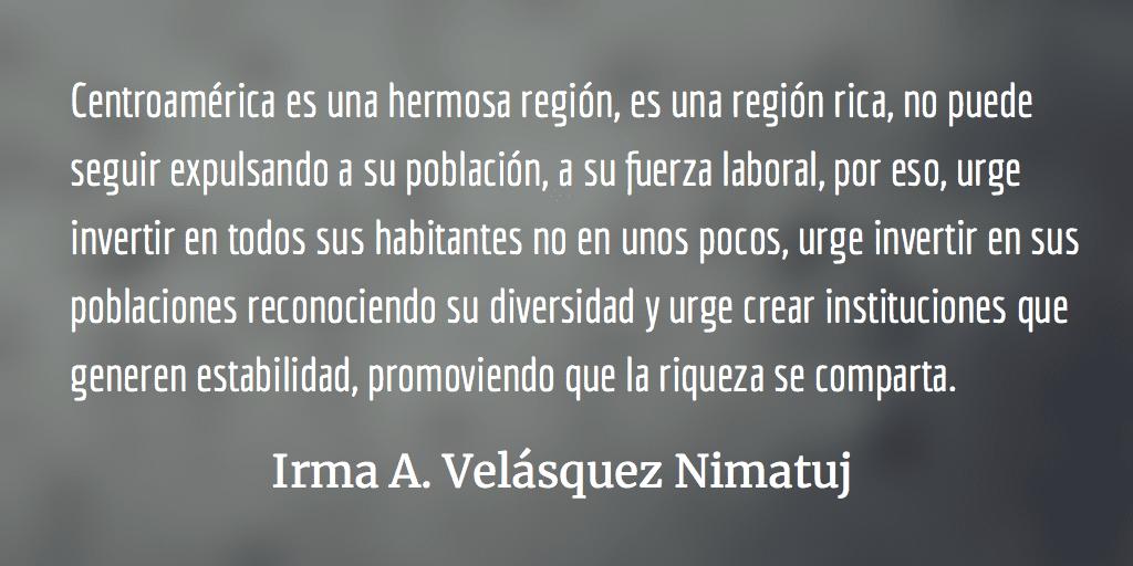 Carta al Presidente Donald Trump y al Gobierno de Estados Unidos de América. Irma A. Velásquez Nimatuj.