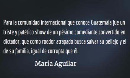 Jimmy Morales mintió en la ONU. María Aguilar.