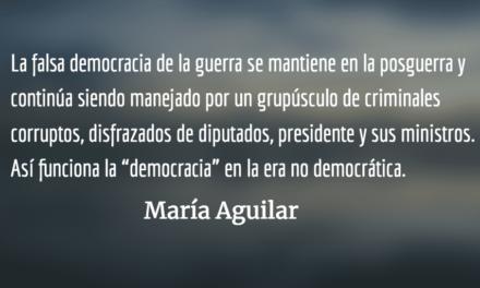 Democracia en la era no democrática. María Aguilar.