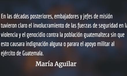 La complicidad con las dictaduras. María Aguilar.