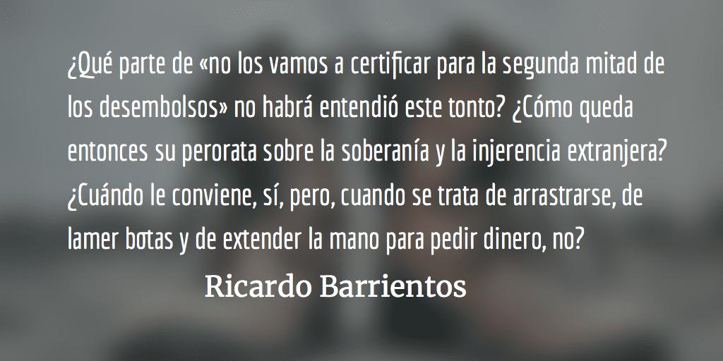 Jimmy, el lamebotas presidencial. Ricardo Barrientos.