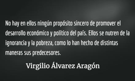 Religiosidad chabacana autoritaria. Virgilio Álvarez Aragón.