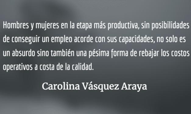 El sabor de la exclusión. Carolina Vásquez Araya.