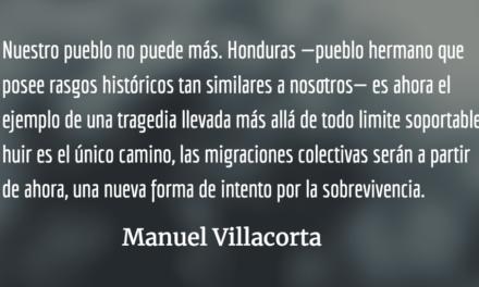 Mensaje de esperanza para un pueblo atormentado. Manuel Villacorta.