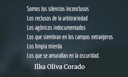 Somos los que han cruzado las fronteras. Ilka Oliva Corado.