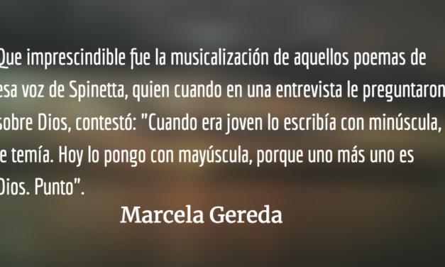 El poeta más rockero. Marcela Gereda.