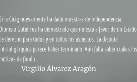 Juzgar asesinatos de prófugos también es razón de Estado. Virgilio Álvarez Aragón.