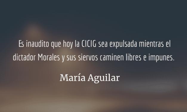 XI Informe de labores de la CICIG. María Aguilar.