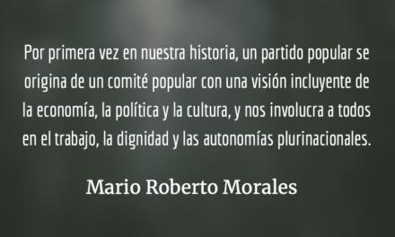 CODECA y su partido el MLP. Mario Roberto Morales.