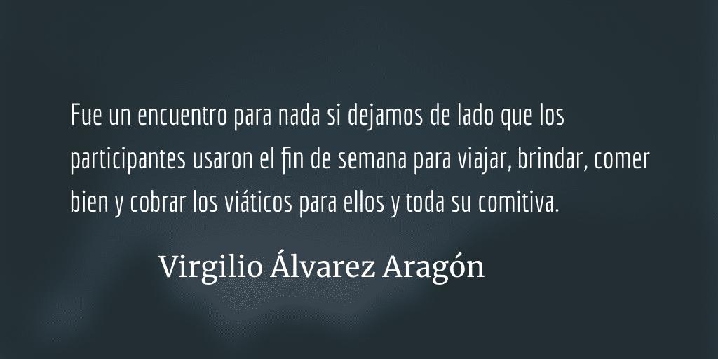 Una cumbre sosa pero costosa. Virgilio Álvarez Aragón.