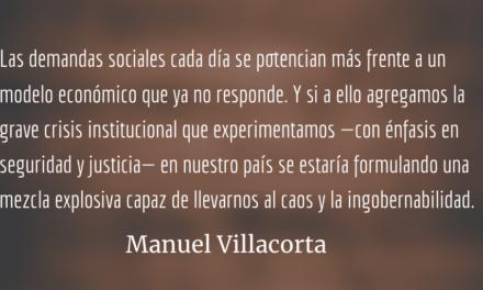 El actual modelo económico colapsó. Manuel Villacorta.