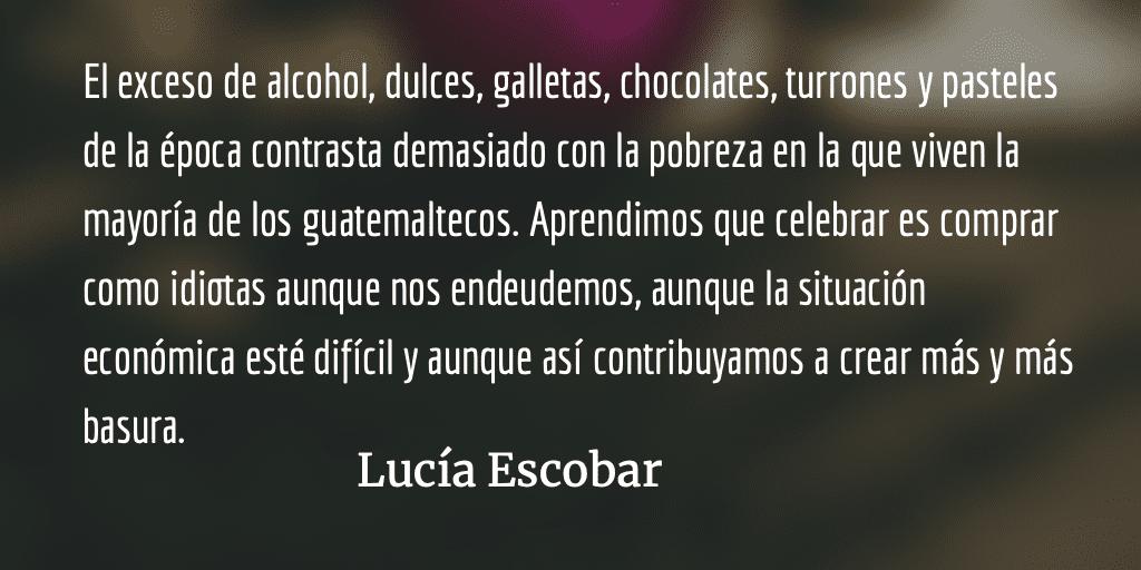 No regale basura. Lucía Escobar.