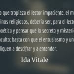 Poemas en busca de iniciados. Ida Vitale.