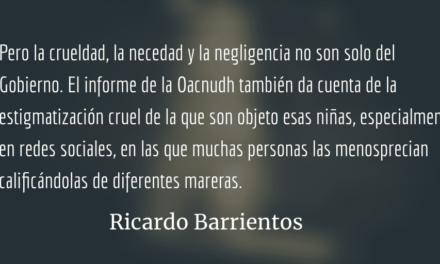 No estigmaticemos a las 56 niñas víctimas. Ricardo Barrientos.