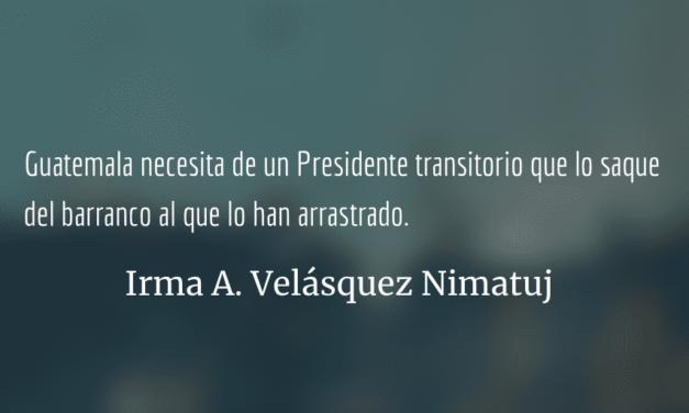 Urge un presidente interino en Guatemala