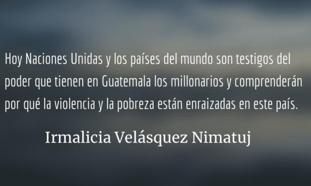 El Estado somos todos los guatemaltecos: Jimmy Morales y Sandra Jovel están defendiendo los privilegios de la oligarquía nacional y de criminales internacionales