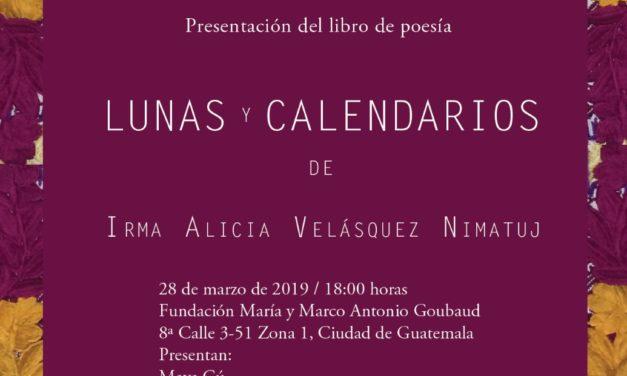 Lunas y calendarios, libro de Irma Alicia Velásquez Nimatuj