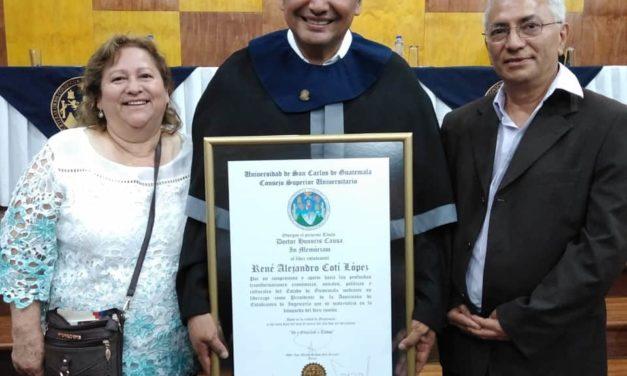 Palabras de aceptación Doctorado Honoris Causa para Alejandro Cotí