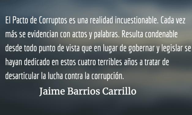 Pacto de corruptos da coletazos