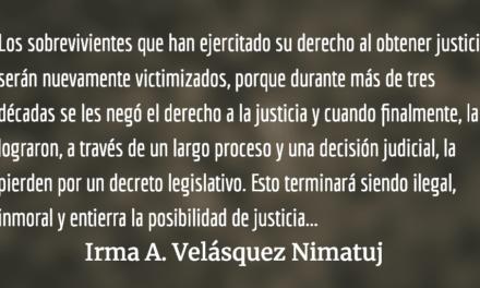 ¡No a las reformas a la ley de Reconciliación Nacional!