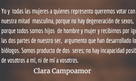 Texto íntegro del discurso de Clara Campoamor en las Cortes