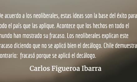 Decálogo neoliberal, el que ni en Chile  funcionó…