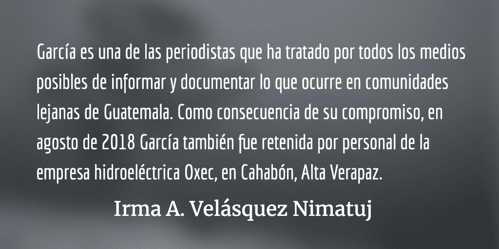 En peligro la vida de la periodista Rolanda García