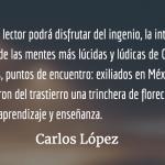 Dejado de ruidos, Carlos Illescas retoma la palabra
