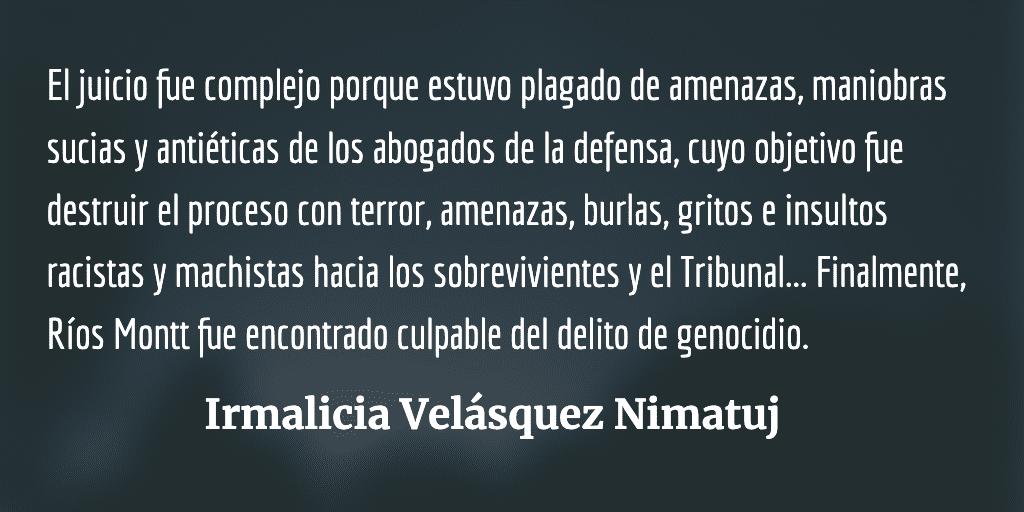 Siete años de la condena por genocidio contra el Pueblo Ixil
