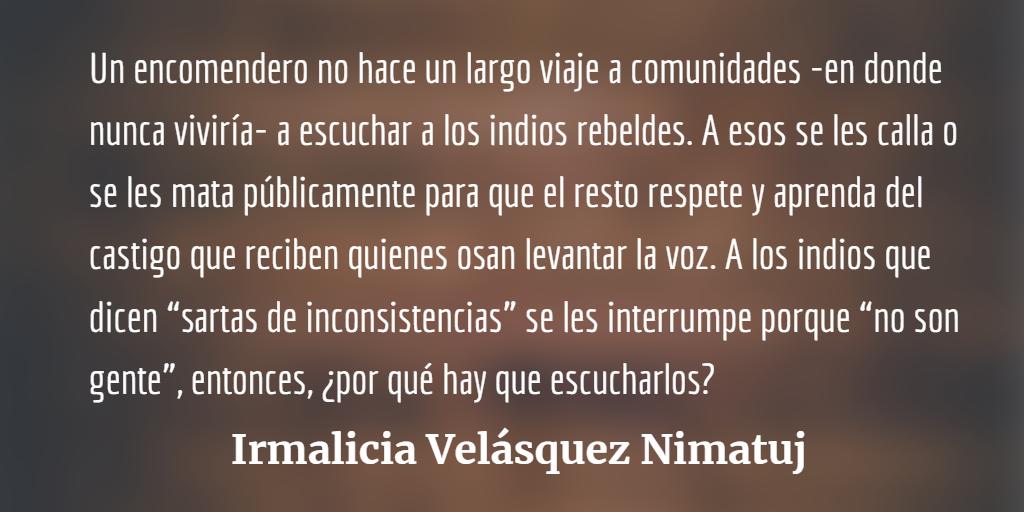 El racismo esencialista y colonial del encomendero Alejandro Giammattei
