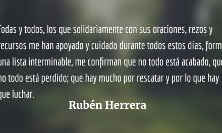 Agradecimiento de Rubén Herrera desde Quetzaltenango