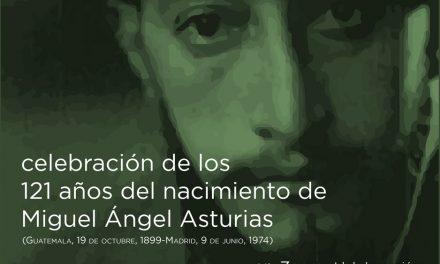 Celebración de los 121 años del nacimiento de Miguel Ángel Asturias
