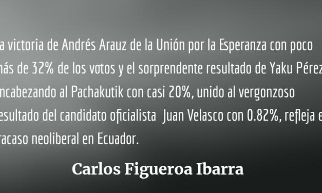 Elecciones presidenciales y  fracaso neoliberal en Ecuador