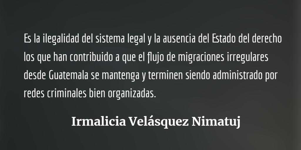 Sin un sistema de justicia sólido no se detendrá la masiva migración