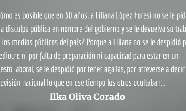 Liliana López Foresi: A ser periodista se aprende, a ser buena persona no