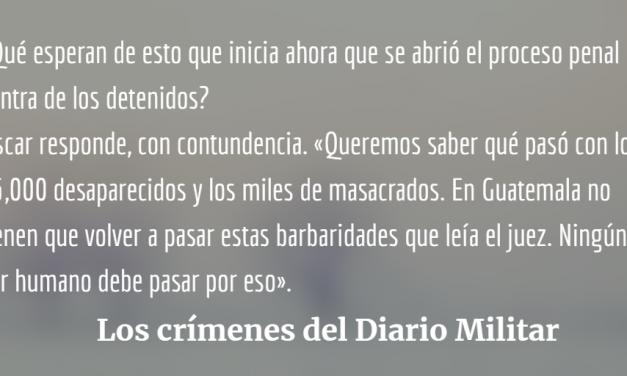 Los crímenes del Diario Militar pasan la primera prueba en Tribunales