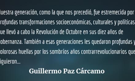 Guillermo Paz Cárcamo, fusión fecunda de militancia y academia