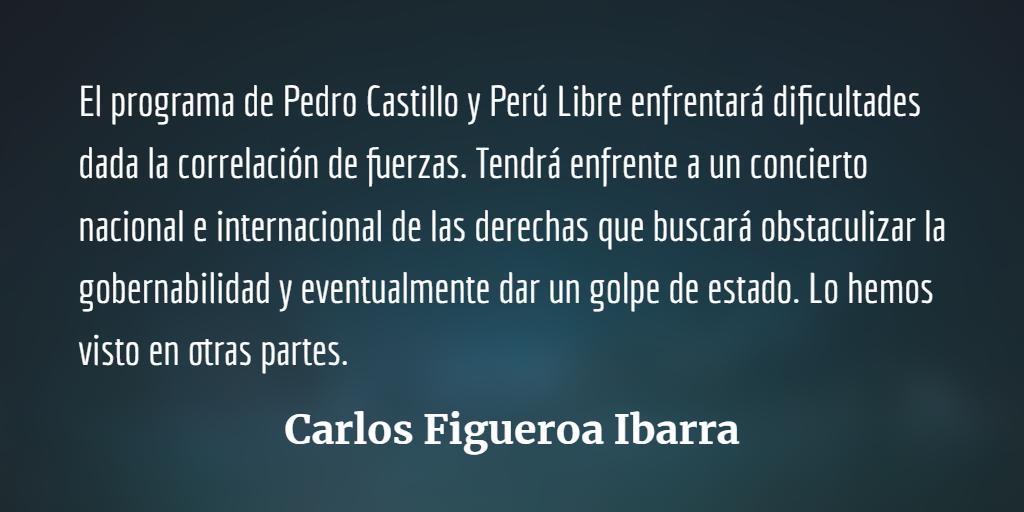 Pedro Castillo en Perú, difícil victoria